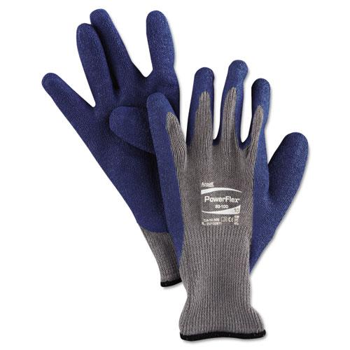 PowerFlex Gloves, Blue/Gray, Size 10, 1 Pair