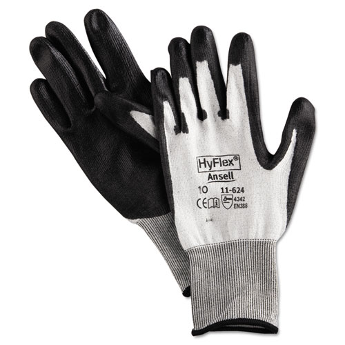 HyFlex Dyneema Cut-Protection Gloves, Gray, Size 10, 12 Pairs | by Plexsupply