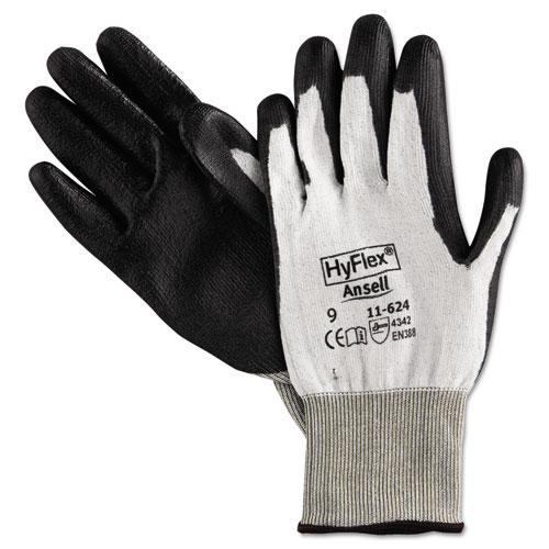 HyFlex Dyneema Cut-Protection Gloves, Gray, Size 9, 12 Pairs | by Plexsupply