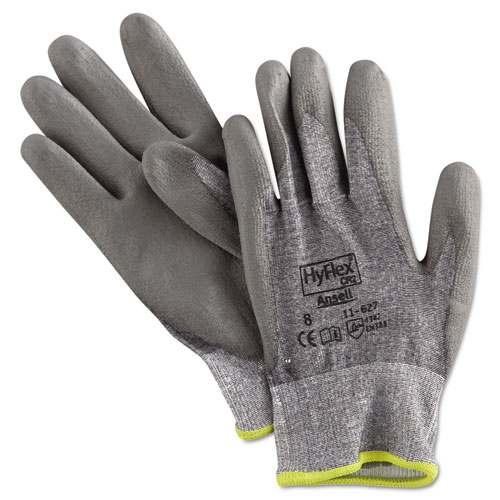 HyFlex 627 Light-Duty Gloves, Size 8, Dyneema/Lycra/Polyurethane, GY, 12 Pairs | by Plexsupply
