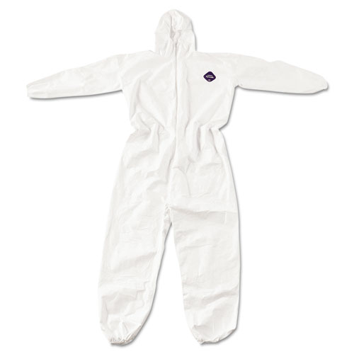 DuPont® Tyvek Elastic-Cuff Hooded Coveralls, White, 4X-Large, 25/Carton DUPTY127S4XL