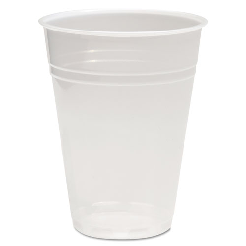 Translucent Plastic Cold Cups, 10 oz, Polypropylene, 10 Cups/Sleeve, 100 Sleeves/Carton