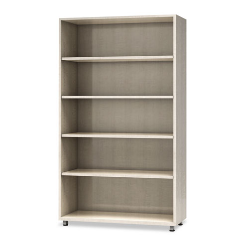 e5 Series Five-Shelf Bookcase, 36w x 15d x 62h, Cocoa