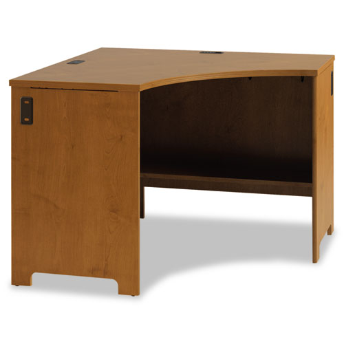 Bush® Envoy Corner Desk Shell, 42 1/8w x 42 1/8d x 30 1/4h, Natural Cherry