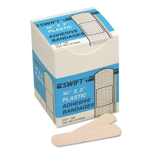 Adhesive Bandages, 3/4 x 3, Plastic