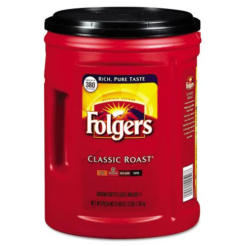 Folgers® Coffee, Classic Roast, 48oz Can