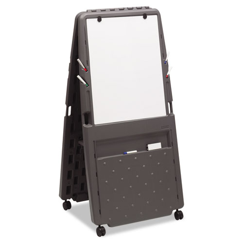 Iceberg Presentation Flipchart Easel With Dry Erase Surface, Resin, 33x28x73, Charcoal