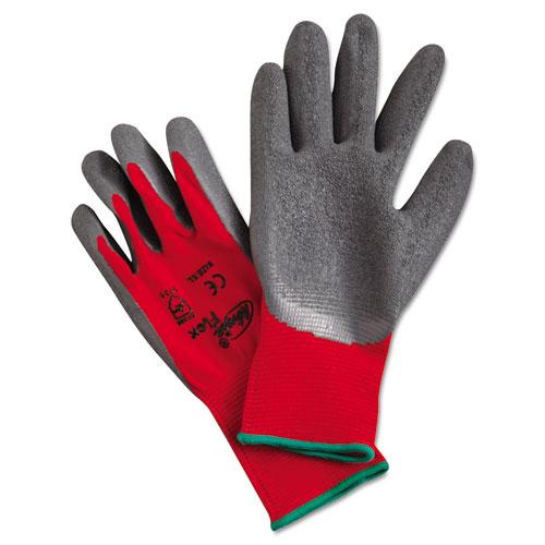 Ninja Flex Latex-Coated-Palm Gloves, Nylon Shell, X-Large, Red/Gray