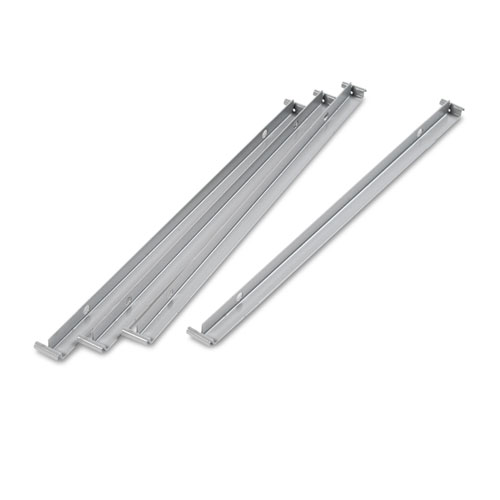 Two Row Hangrails for 30 or 36 Files, Aluminum, 4/Pack