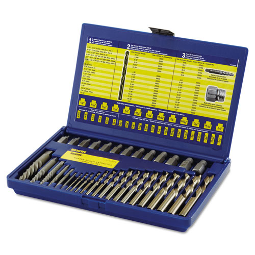 35-Piece Screw Extractor/Drill Bit Set; SAE 11135