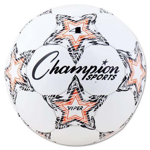 VIPER Soccer Ball, Size 4, 8- 8 1/4 dia., White