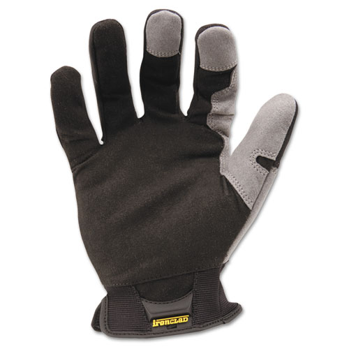 Workforce Glove, Large, Gray/Black, Pair   by Plexsupply