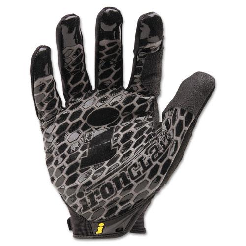 Box Handler Gloves, Black, Large, Pair   by Plexsupply