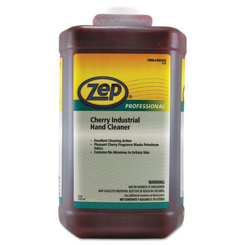 Cherry Industrial Hand Cleaner, Cherry, 1 gal Bottle, 4/Carton