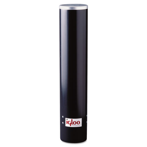 Cup Dispenser, 7oz, Black Plastic 9534
