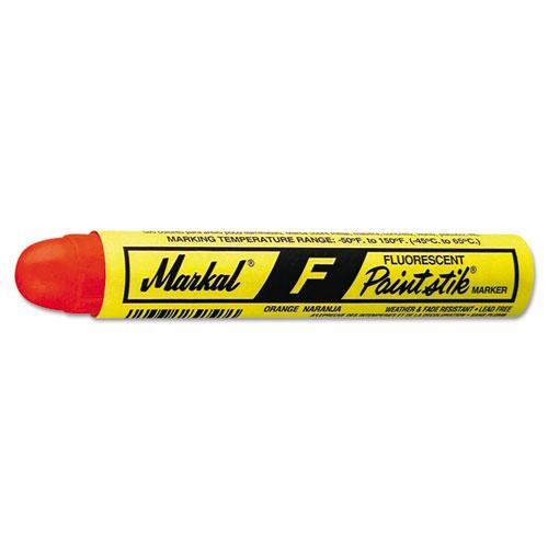 Markal® Paintstik F Marker, Fluorescent Orange