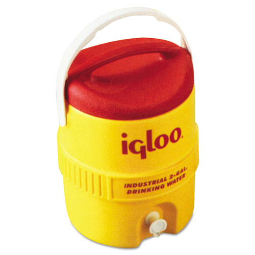 Industrial Water Cooler, 2 gal, Yellow/Red