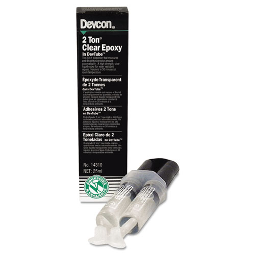 2 Ton Clear Epoxy, 0.85 oz, Dries White   by Plexsupply