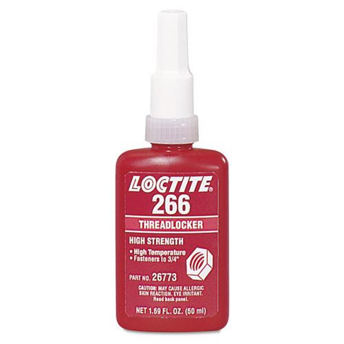 Loctite® 266 High-Strength/High-Temp Threadlocker, 50 mL, Red-Orange