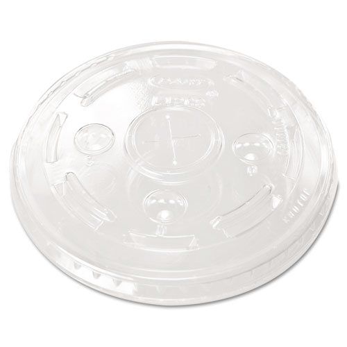 Conex Cold Cup Lids, 12oz Cups, Clear, 100/Sleeve, 10 Sleeves/Carton L12C
