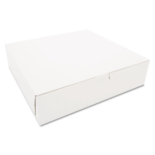 Tuck-Top Bakery Boxes, 10 x 10 x 2.5, White, 250/Carton