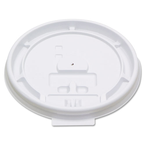 Hot Cup Tear-Tab Lids, Fits 8oz Cups, White, 100/Sleeve, 10 Sleeves/Carton 8TABLID