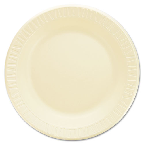 Laminated Foam Dinnerware, Plates, 10 1/4, Honey, 125/Pk, 4 Pks/Ctn