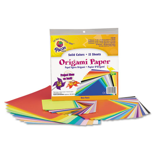 Pacon® Origami Paper, 30 lbs., 9 x 9, Assorted Bright Colors, 40 Sheets/Pack