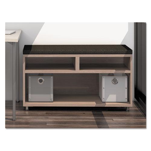 e5 Series Open Storage Cabinet, 36w x 18d x 23h, Summer Suede
