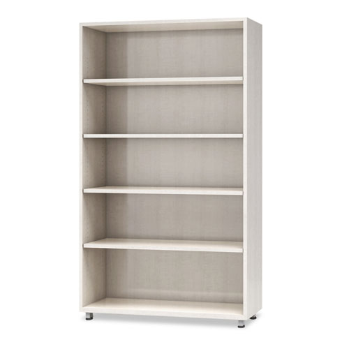 e5 Series Five-Shelf Bookcase, 36w x 15d x 62h, White