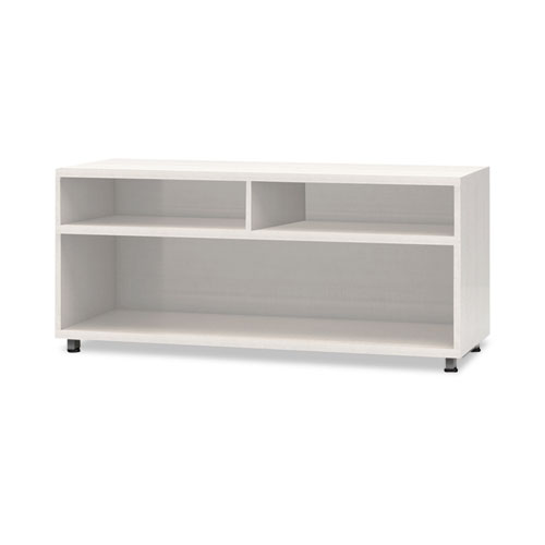 e5 Series Open Storage Cabinet, 42w x 18d x 23h, White