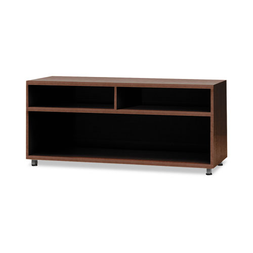 e5 Series Open Storage Cabinet, 42w x 18d x 23h, Walnut