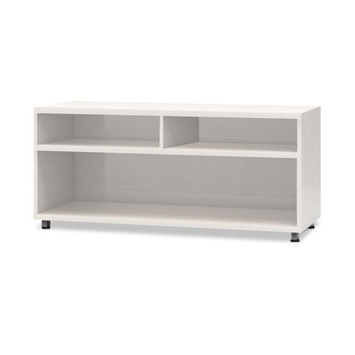 e5 Series Open Storage Cabinet, 36w x 18d x 23h, White