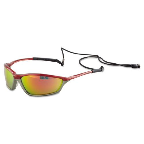 MCR™ Safety Shock Protective Eyewear, Crimson and Stone, Fire-Mirror