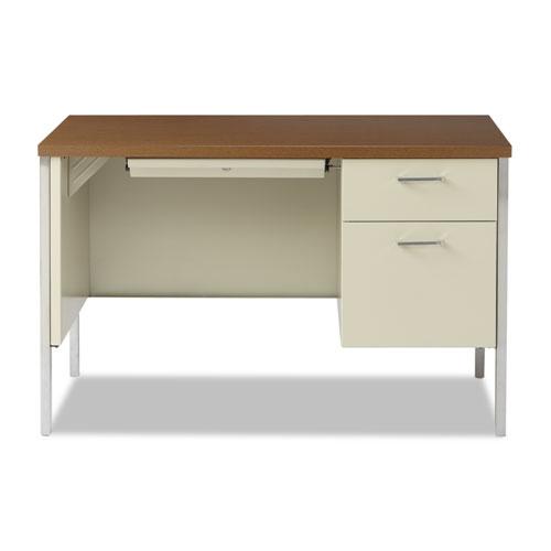 Single Pedestal Steel Desk Metal Desk 45 1 4w X 24d X 29