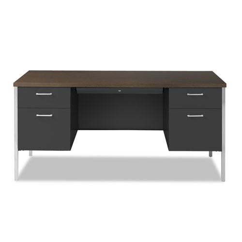 Double Pedestal Steel Desk Metal Desk 60w X 30d X 29 1