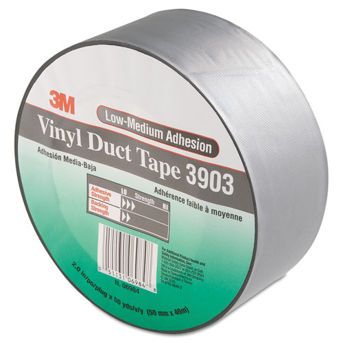 3903 Vinyl Duct Tape, 2 x 50 yds, Gray
