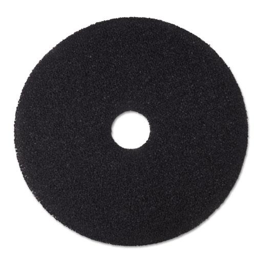 "Low-Speed Stripper Floor Pad 7200, 16"" Diameter, Black, 5/Carton | by Plexsupply"