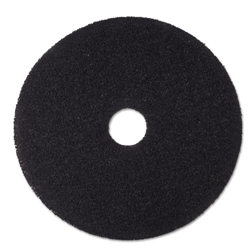 "3M™ Low-Speed Stripper Floor Pad 7200, 19"" Diameter, Black, 5/Carton"