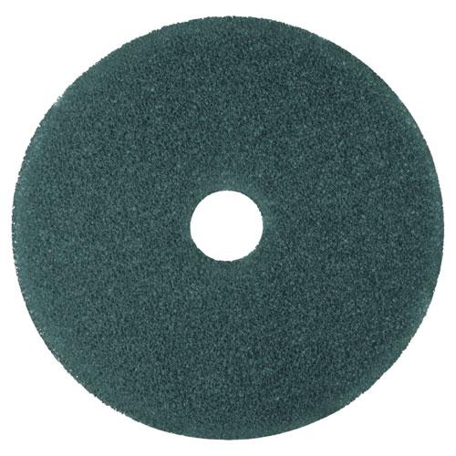"""3M™ Cleaner Floor Pad 5300, 17"""" Diameter, Blue, 5/Carton"""