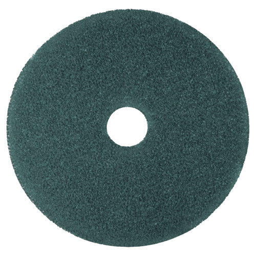 """3M™ Cleaner Floor Pad 5300, 20"""" Diameter, Blue, 5/Carton"""