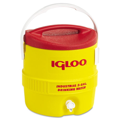 Igloo® Industrial Water Cooler, 3 gal, Yellow Red
