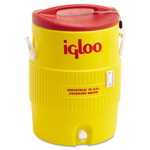 Igloo® 400 Series Water Cooler, 10 gal, 16 dia  x 23.5 h, /Red