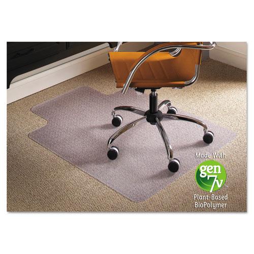 ES Robbins® Natural Origins Chair Mat For Carpet, 36 x 48, Clear