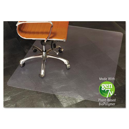 ES Robbins® Natural Origins Chair Mat With Lip For Hard Floors, 36 x 48, Clear