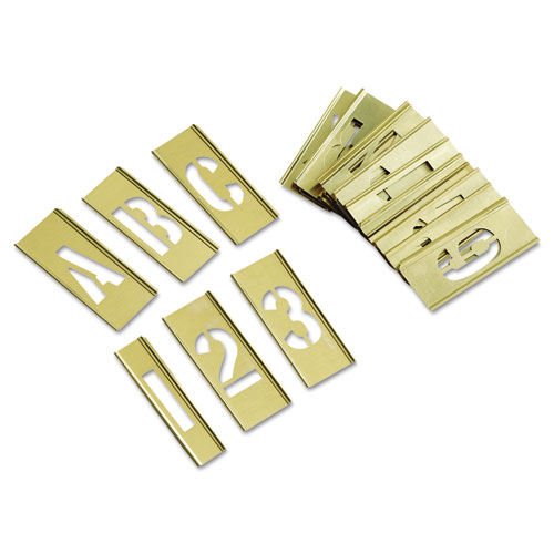 C.H. Hanson® 45-Piece Combination Letter and Number Stamp Set