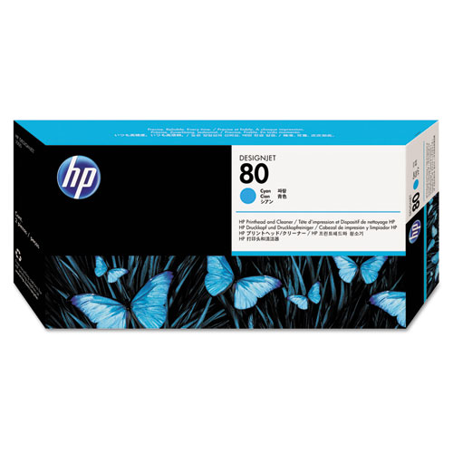 HP 80, (C4821A) Cyan Printhead  Cleaner