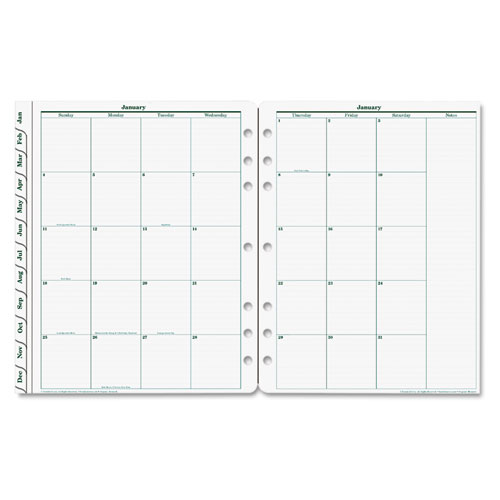 Monthly Calendar Refills : Product fdp original dated monthly planner refill