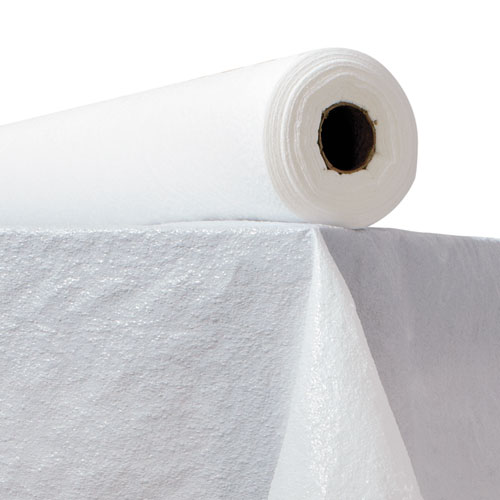 Plastic Table Cover, 40 x 300ft, White