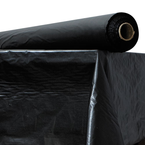 Plastic Table Cover, 40 x 300 ft Roll, Black